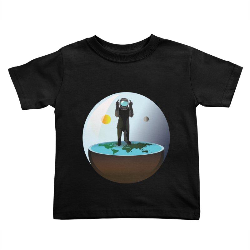 Flat World Kids Toddler T-Shirt by P34K's shop
