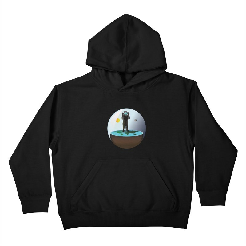 Flat World Kids Pullover Hoody by P34K's shop
