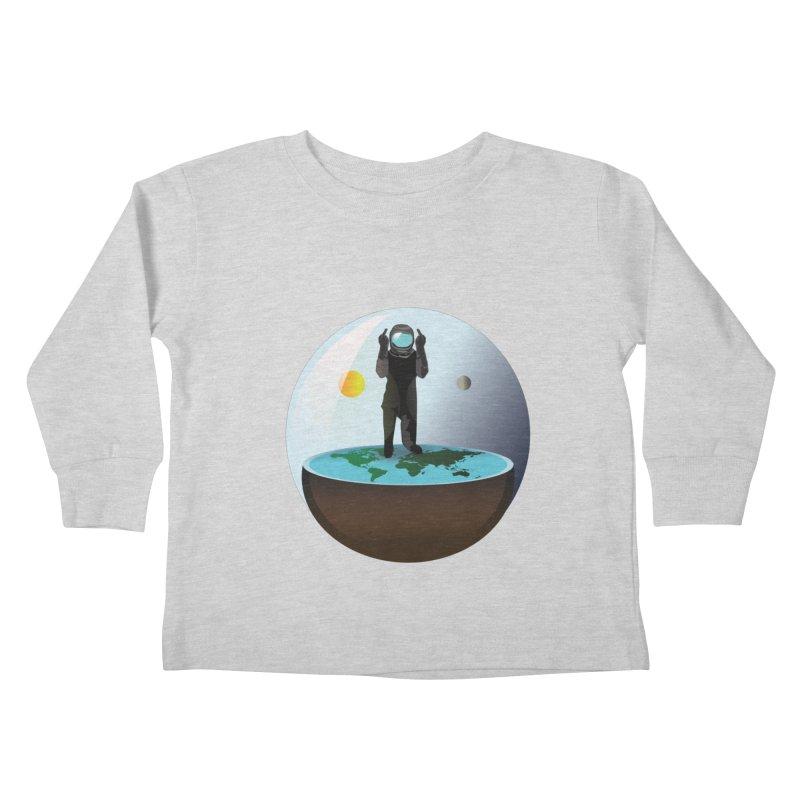 Flat World Kids Toddler Longsleeve T-Shirt by P34K's shop