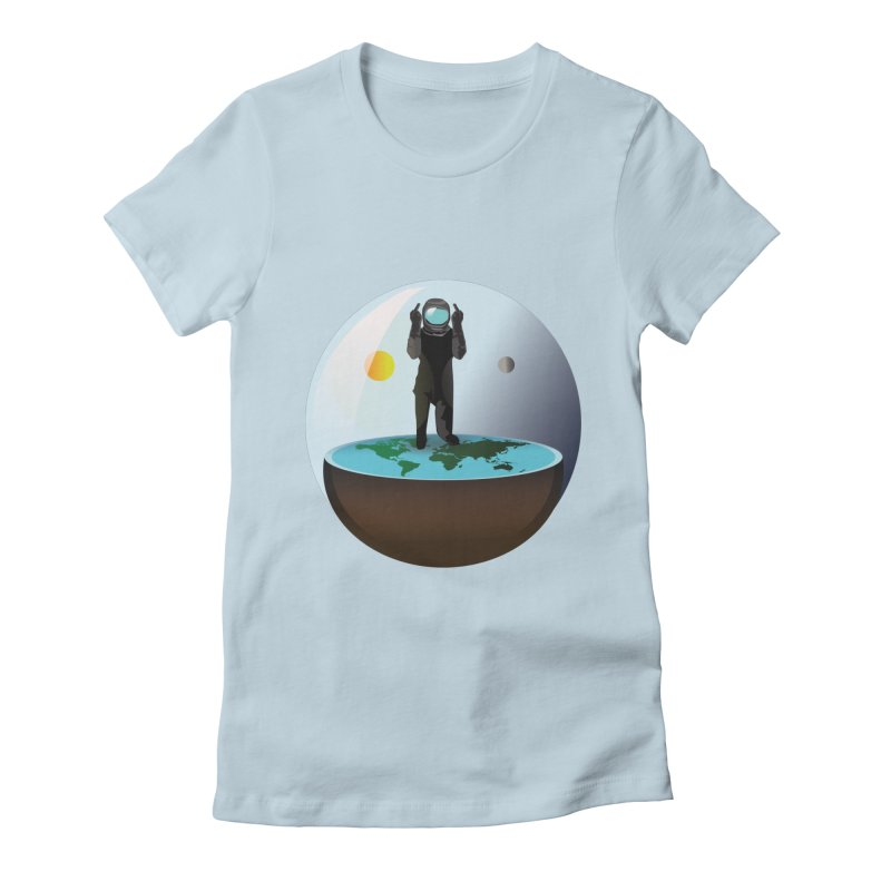 Flat World Women's Fitted T-Shirt by P34K's shop