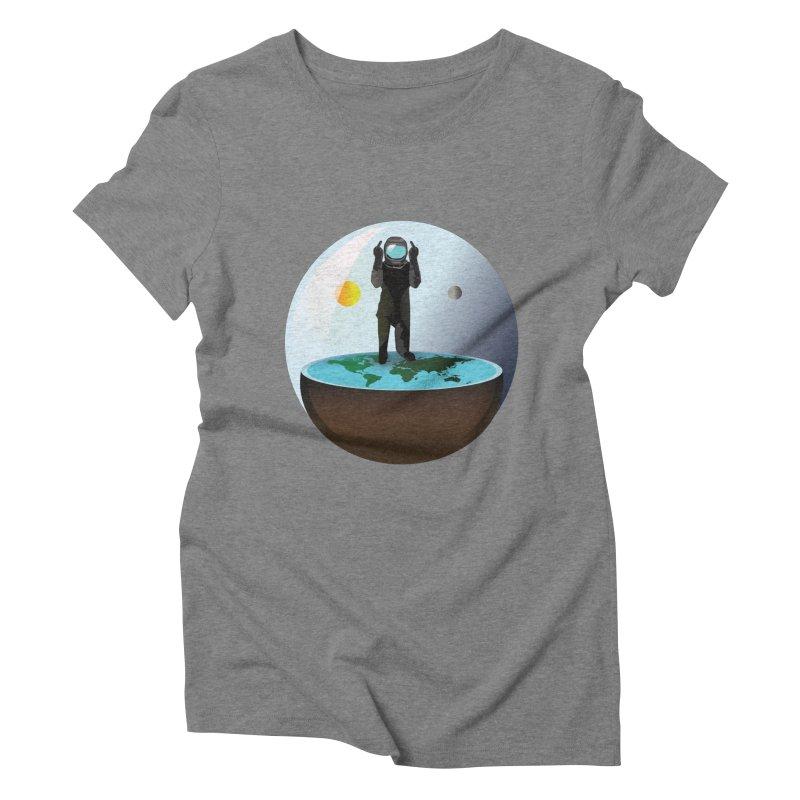 Flat World Women's Triblend T-shirt by P34K's shop