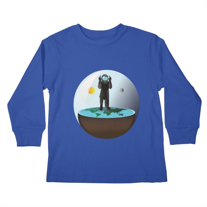 Flat World Kids Longsleeve T-Shirt by P34K's shop