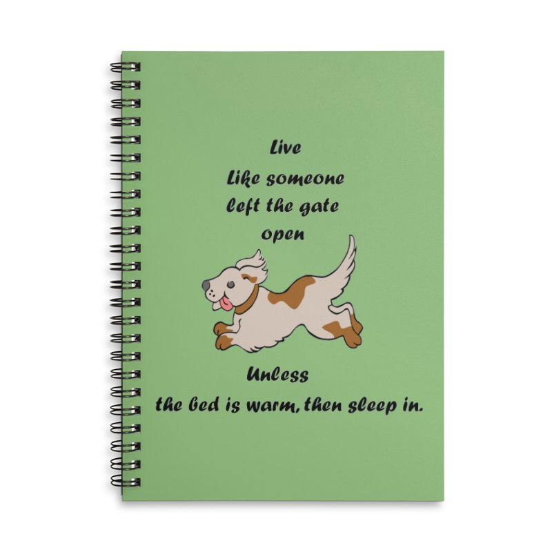 Live life right Accessories Lined Spiral Notebook by The Gear Shop