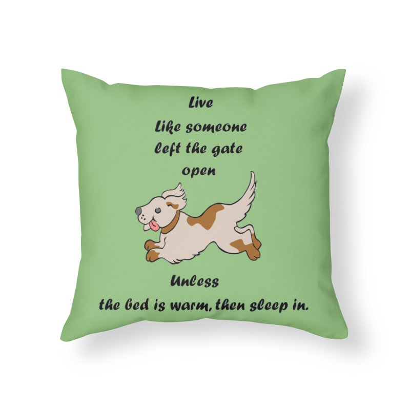 Live life right Home Throw Pillow by The Gear Shop