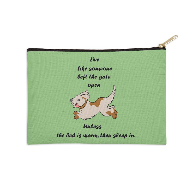 Live life right Accessories Zip Pouch by The Gear Shop