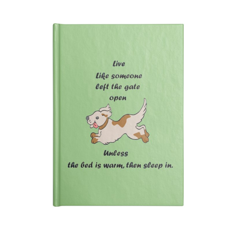 Live life right Accessories Blank Journal Notebook by The Gear Shop