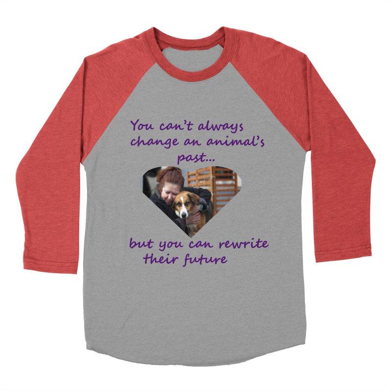 Rewrite an animals future Men's Baseball Triblend Longsleeve T-Shirt by The Gear Shop