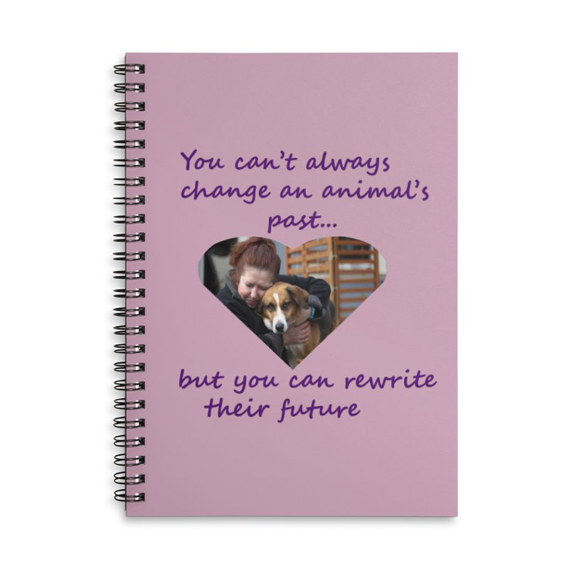Rewrite an animals future Accessories Lined Spiral Notebook by The Gear Shop