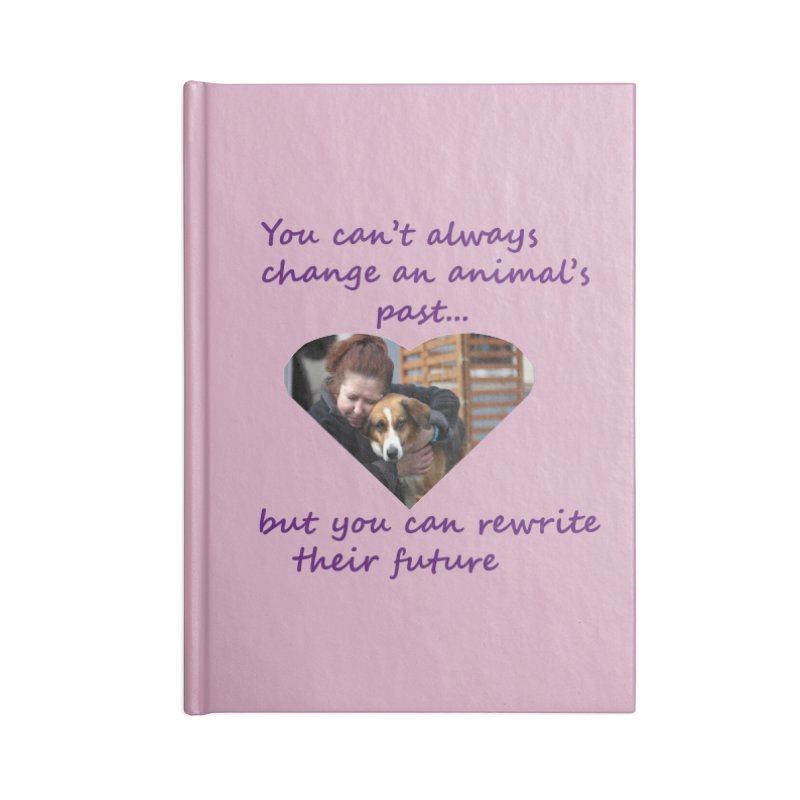 Rewrite an animals future Accessories Blank Journal Notebook by The Gear Shop