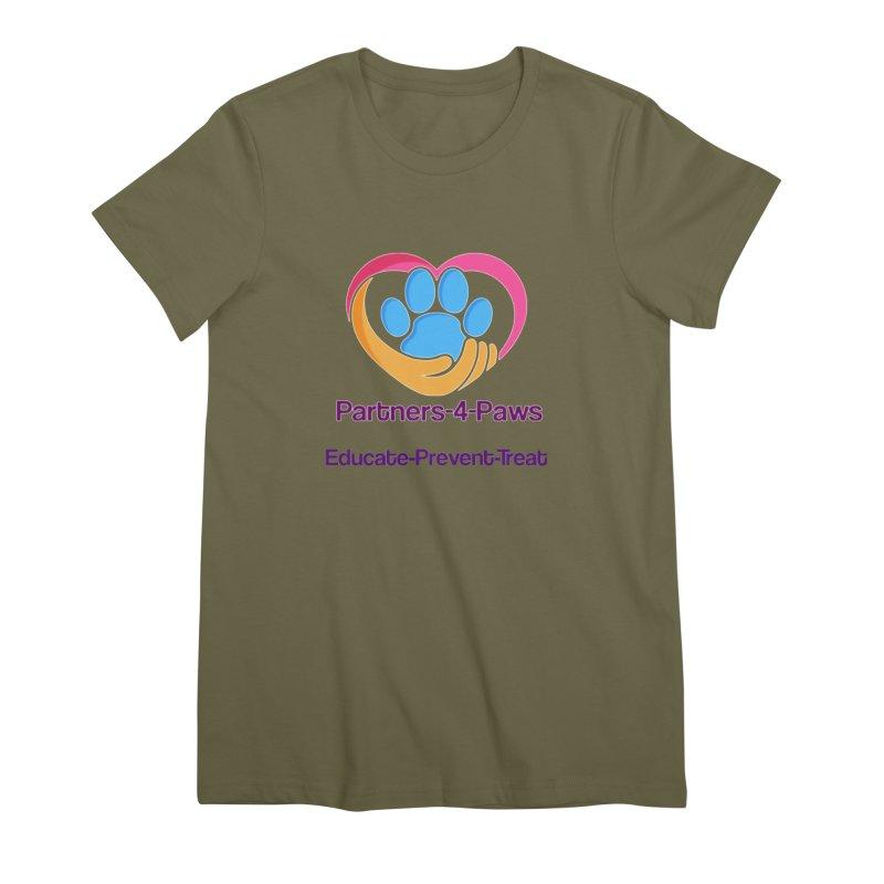 Partners-4-Paws logo shirt Women's Premium T-Shirt by The Gear Shop