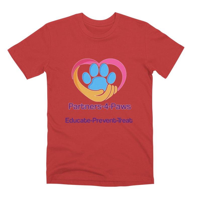 Partners-4-Paws logo shirt Men's Premium T-Shirt by The Gear Shop