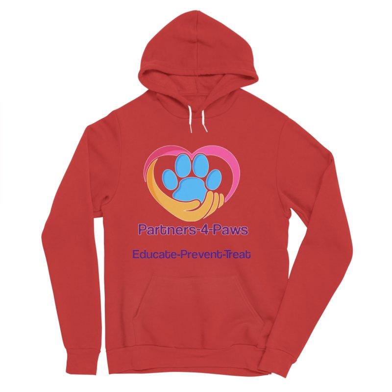 Partners-4-Paws logo shirt Women's Sponge Fleece Pullover Hoody by The Gear Shop