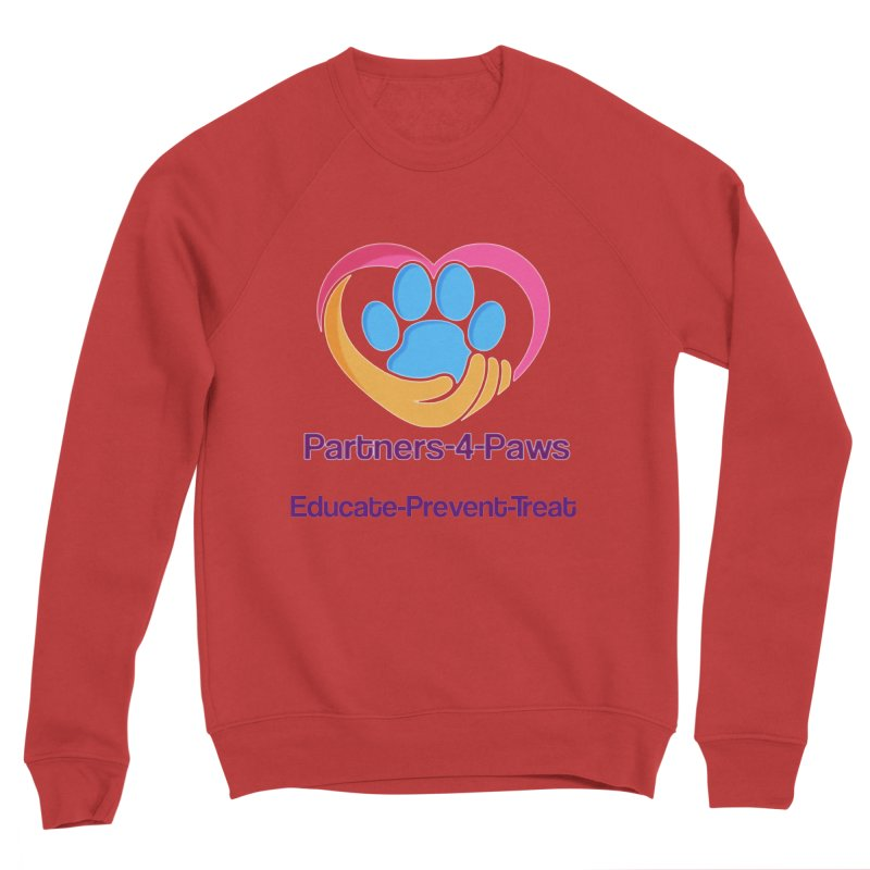 Partners-4-Paws logo shirt Women's Sponge Fleece Sweatshirt by The Gear Shop