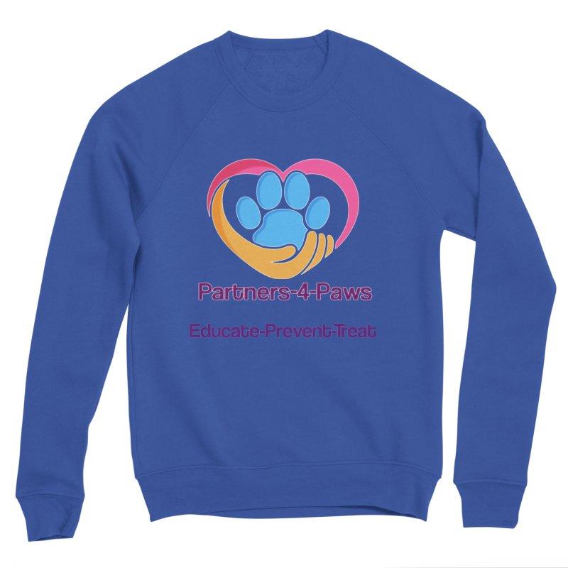 Partners-4-Paws logo shirt Men's Sponge Fleece Sweatshirt by The Gear Shop