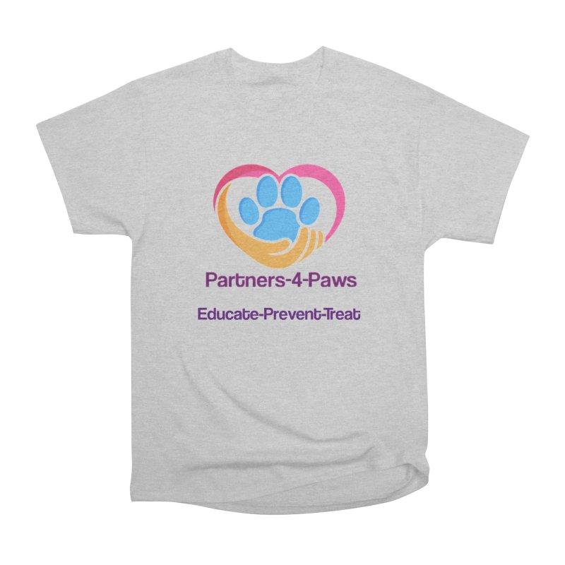 Partners-4-Paws logo shirt Men's Heavyweight T-Shirt by The Gear Shop