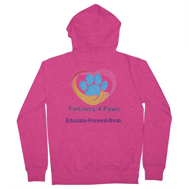 Partners-4-Paws logo shirt Women's French Terry Zip-Up Hoody by The Gear Shop