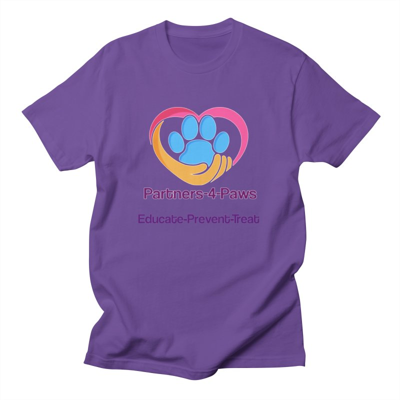 Partners-4-Paws logo shirt Women's Regular Unisex T-Shirt by The Gear Shop