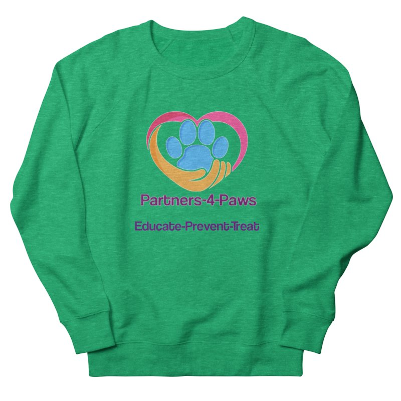 Partners-4-Paws logo shirt Women's French Terry Sweatshirt by The Gear Shop