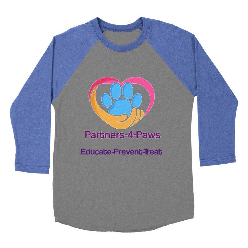 Partners-4-Paws logo shirt Women's Baseball Triblend Longsleeve T-Shirt by The Gear Shop
