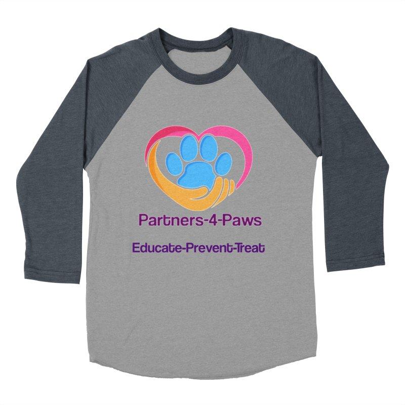Partners-4-Paws logo shirt Men's Baseball Triblend Longsleeve T-Shirt by The Gear Shop