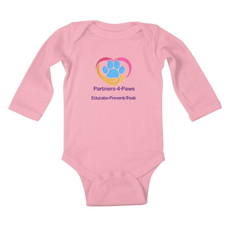 Partners-4-Paws logo shirt Kids Baby Longsleeve Bodysuit by The Gear Shop