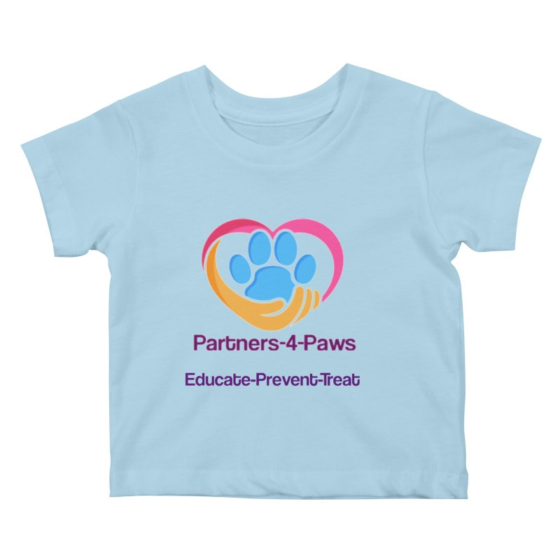 Partners-4-Paws logo shirt Kids Baby T-Shirt by The Gear Shop