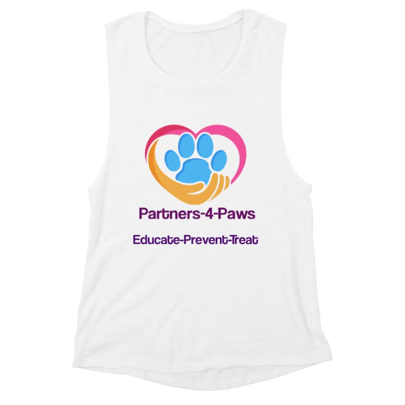 Partners-4-Paws logo shirt Women's Muscle Tank by The Gear Shop