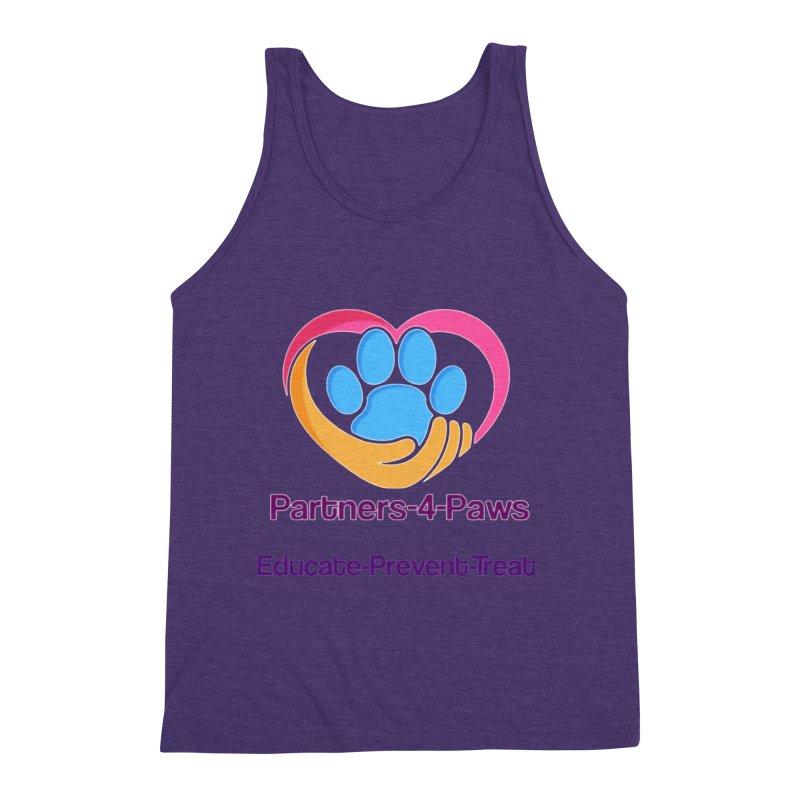 Partners-4-Paws logo shirt Men's Triblend Tank by The Gear Shop