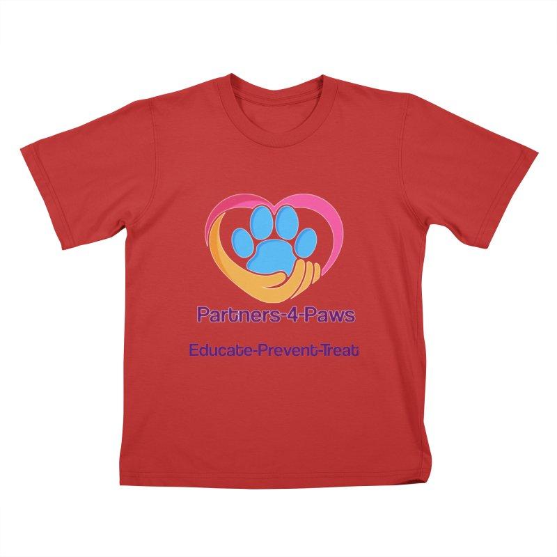 Partners-4-Paws logo shirt Kids T-Shirt by The Gear Shop