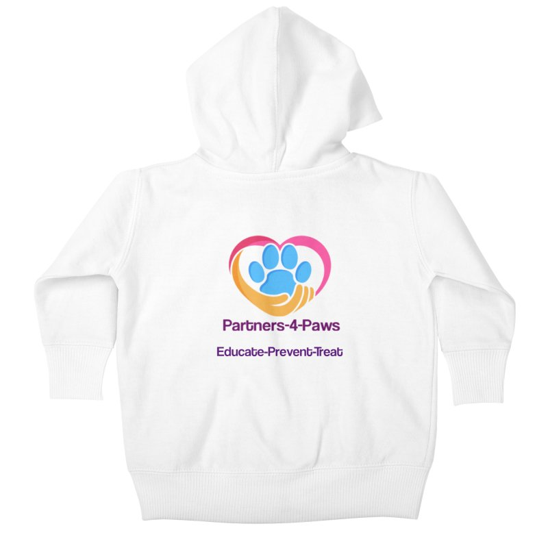 Partners-4-Paws logo shirt Kids Baby Zip-Up Hoody by The Gear Shop