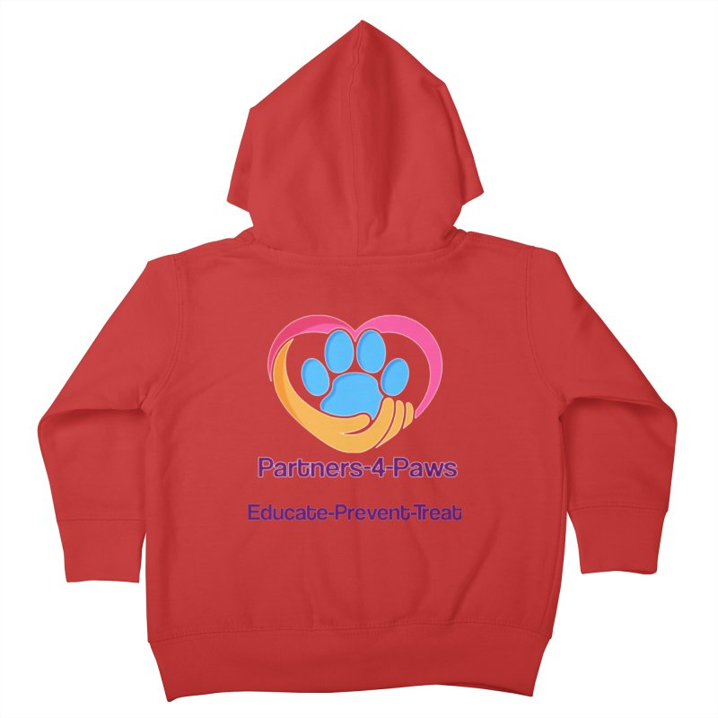 Partners-4-Paws logo shirt Kids Toddler Zip-Up Hoody by The Gear Shop
