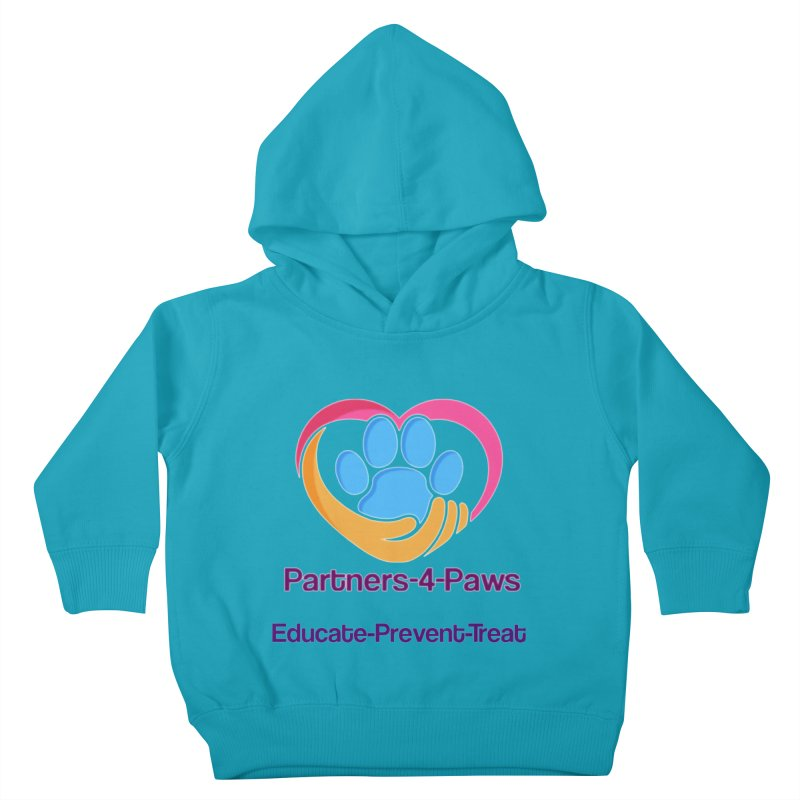 Partners-4-Paws logo shirt Kids Toddler Pullover Hoody by The Gear Shop