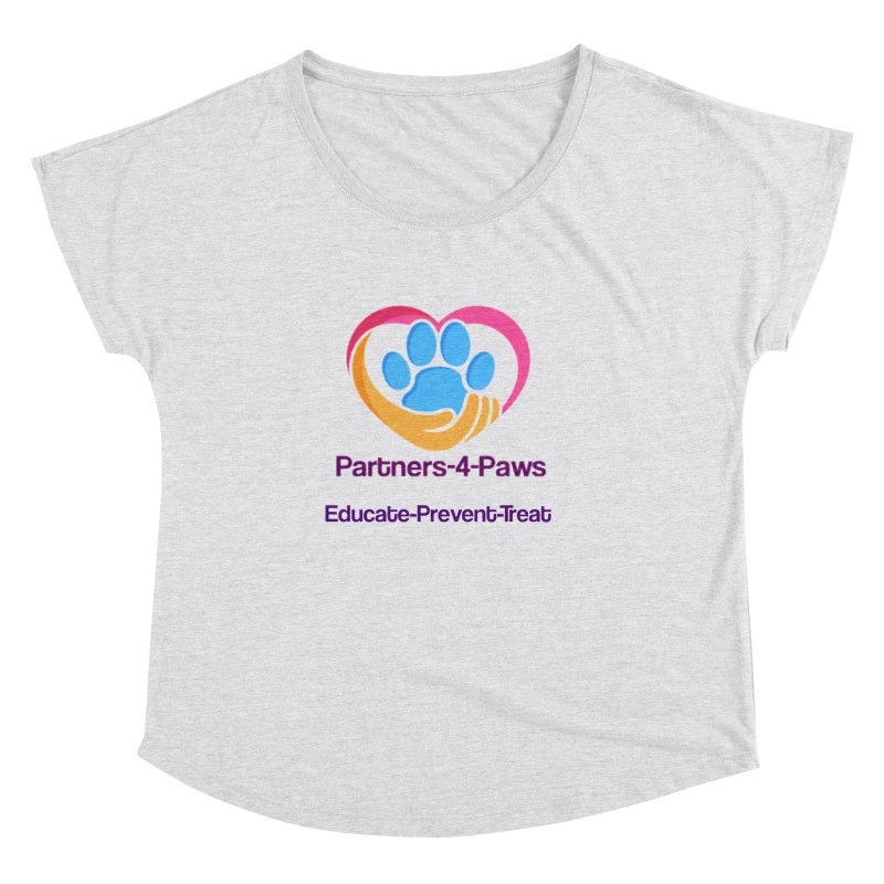 Partners-4-Paws logo shirt Women's Dolman Scoop Neck by The Gear Shop