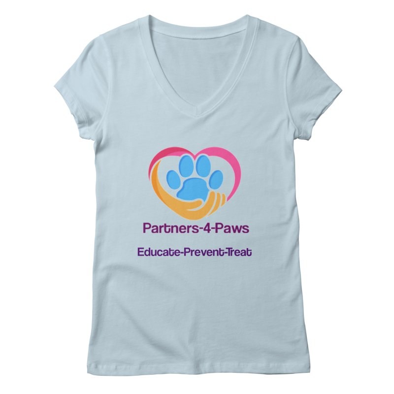 Partners-4-Paws logo shirt Women's V-Neck by The Gear Shoppe