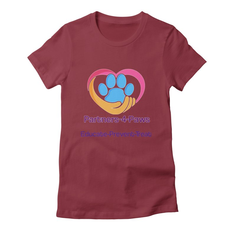 Partners-4-Paws logo shirt Women's Fitted T-Shirt by The Gear Shop