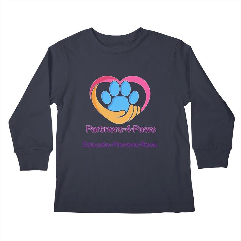 Partners-4-Paws logo shirt Kids Longsleeve T-Shirt by The Gear Shop