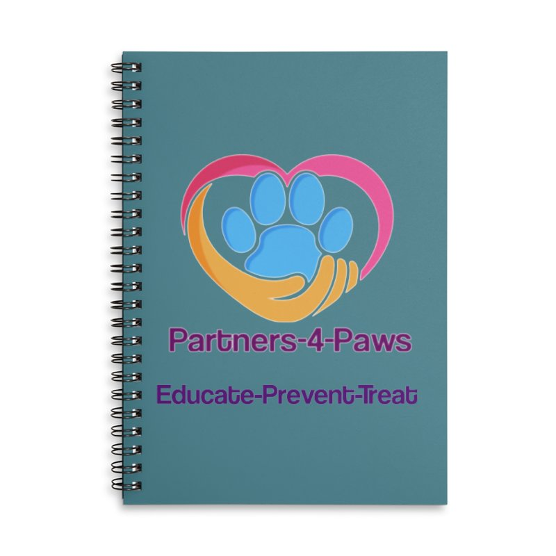 Partners-4-Paws logo shirt Accessories Lined Spiral Notebook by The Gear Shop