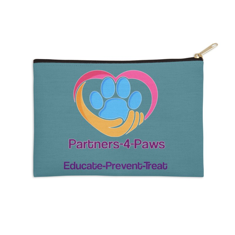 Partners-4-Paws logo shirt Accessories Zip Pouch by The Gear Shop