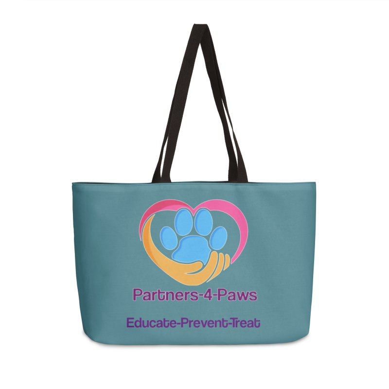 Partners-4-Paws logo shirt Accessories Weekender Bag Bag by The Gear Shop
