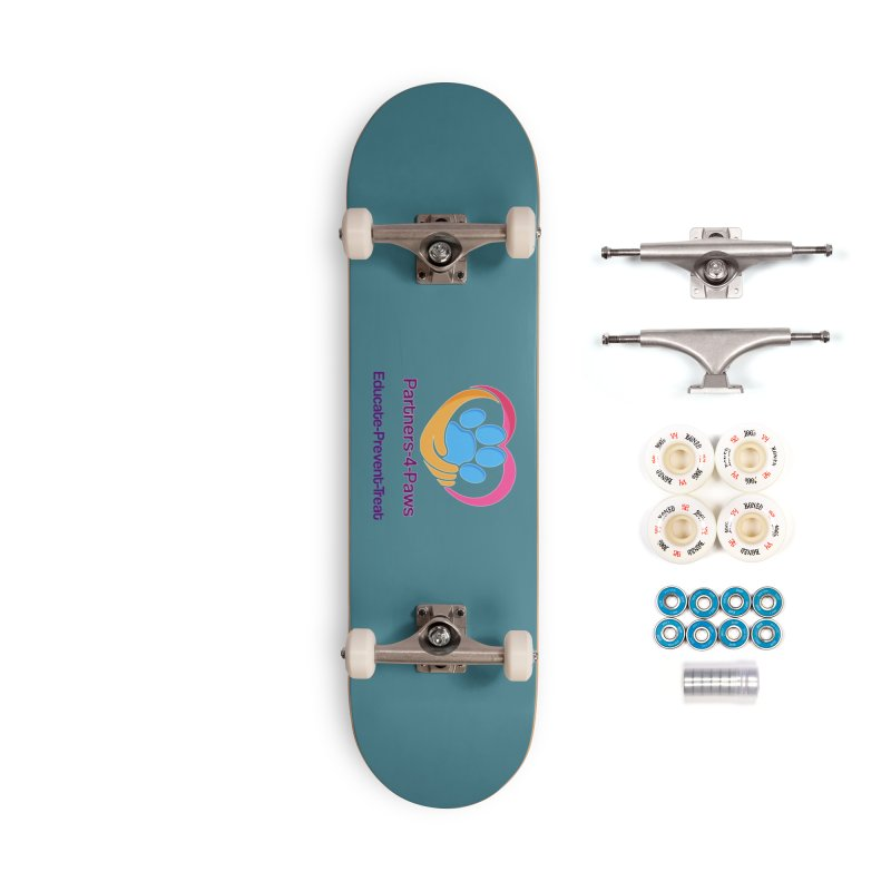 Partners-4-Paws logo shirt Accessories Complete - Premium Skateboard by The Gear Shop