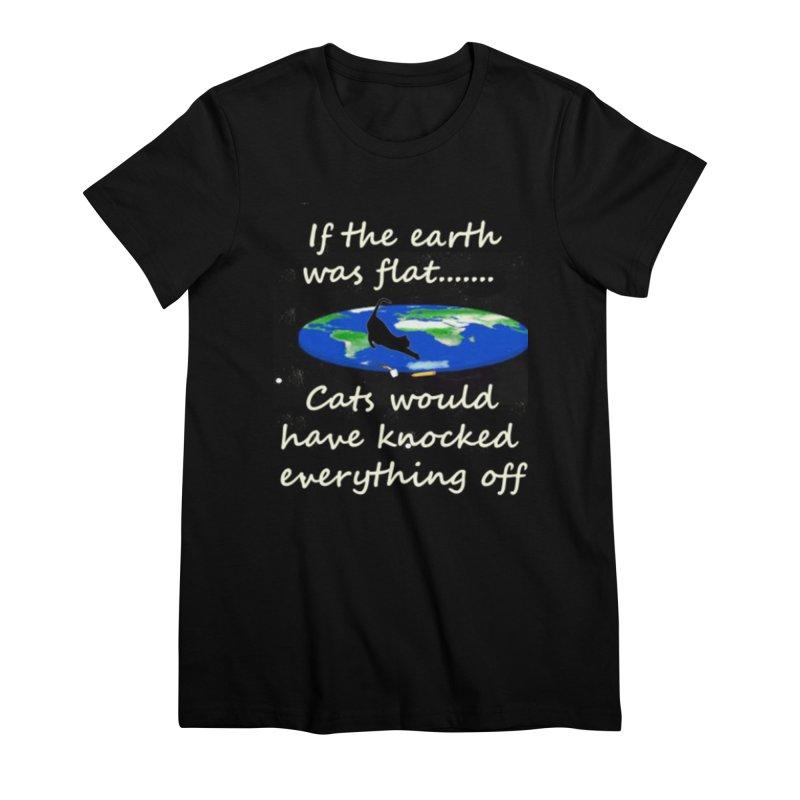 Flat Earth Cats Women's Premium T-Shirt by The Gear Shop