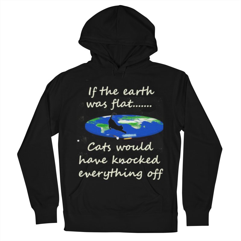 Flat Earth Cats Women's French Terry Pullover Hoody by The Gear Shop