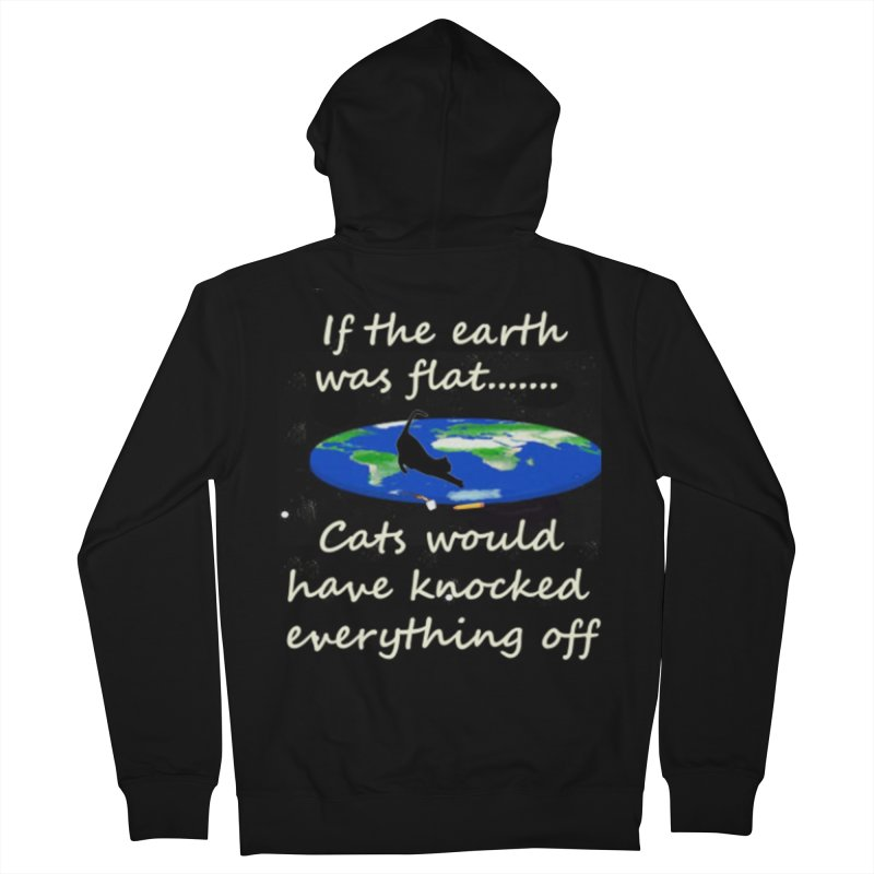 Flat Earth Cats Women's French Terry Zip-Up Hoody by The Gear Shop