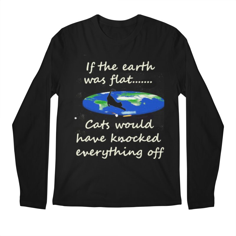 Flat Earth Cats Men's Regular Longsleeve T-Shirt by The Gear Shop