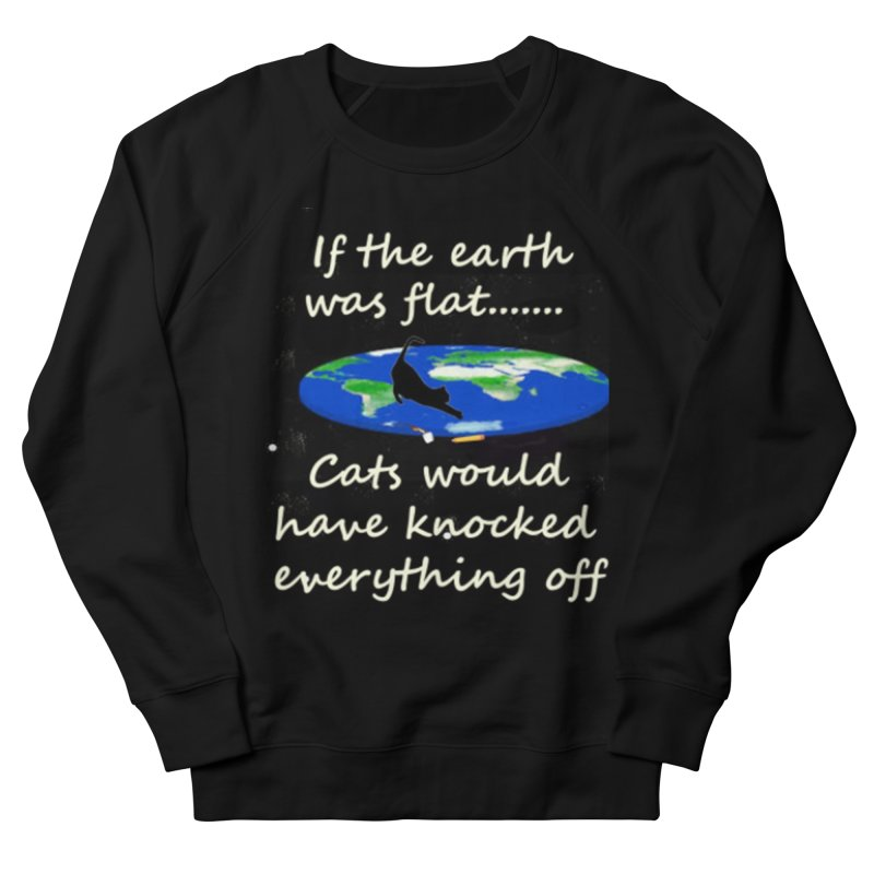 Flat Earth Cats Men's French Terry Sweatshirt by The Gear Shop