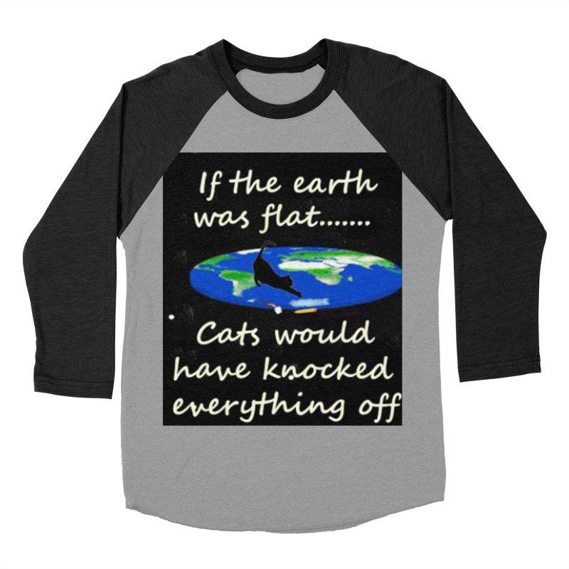 Flat Earth Cats Women's Baseball Triblend Longsleeve T-Shirt by The Gear Shop