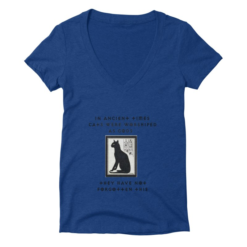Cats are gods Women's Deep V-Neck V-Neck by The Gear Shop