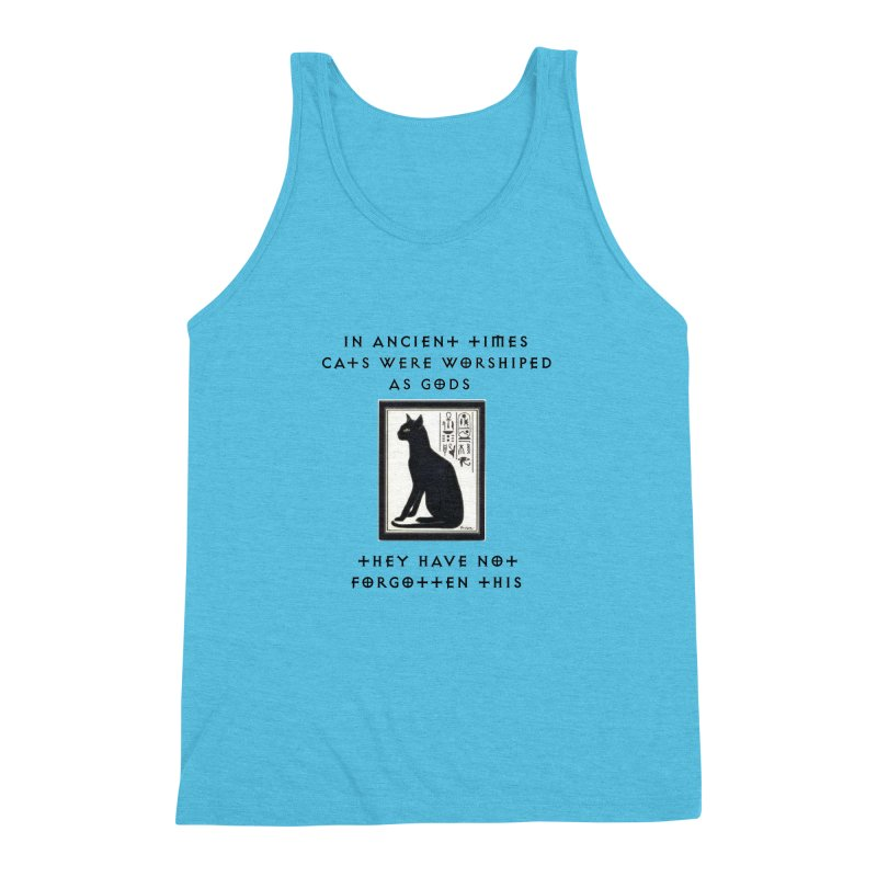 Cats are gods Men's Triblend Tank by The Gear Shop