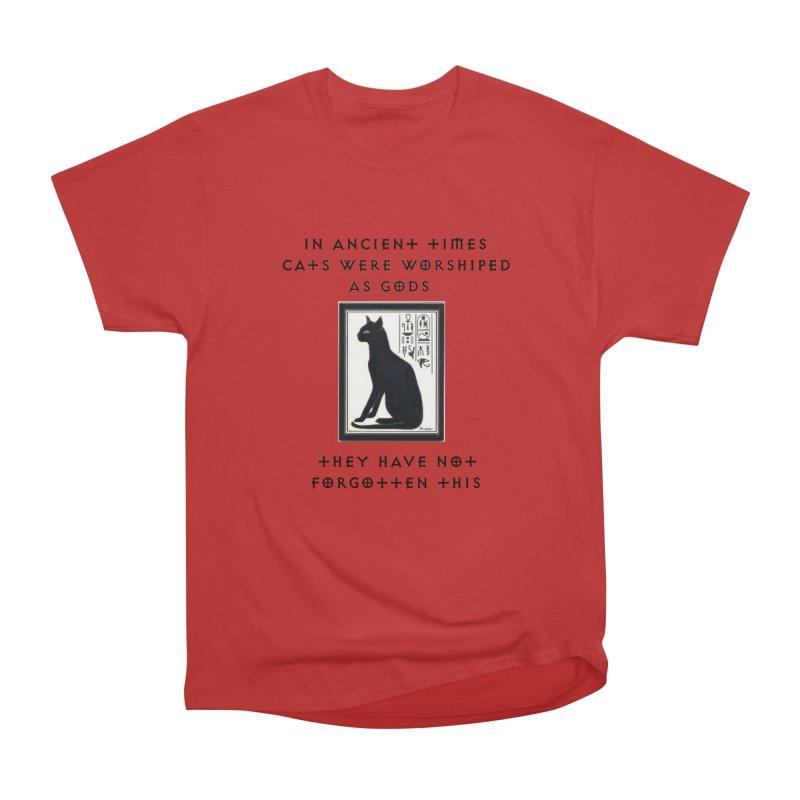 Cats are gods Women's Heavyweight Unisex T-Shirt by The Gear Shop