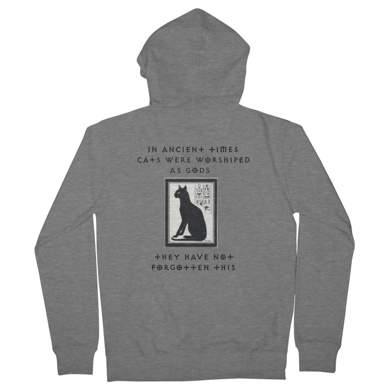 Cats are gods Women's French Terry Zip-Up Hoody by The Gear Shop
